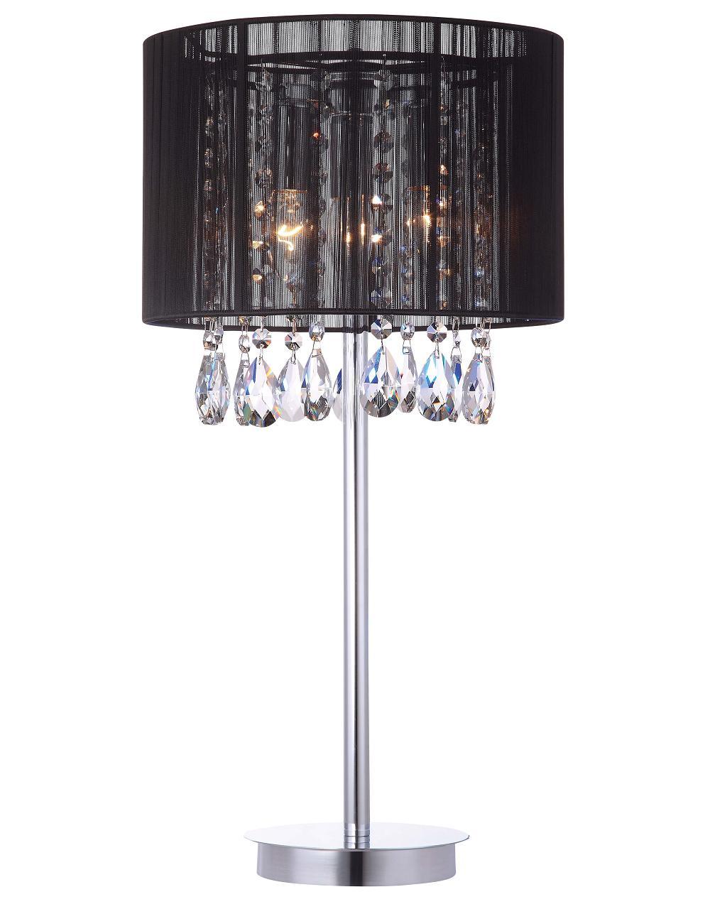 Essence Italux Mtm9262 3pb Lampa Stołowa Kryształyabażur Czarny