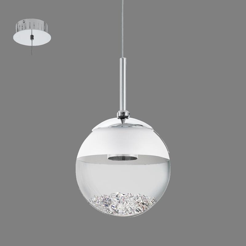 Montefio 1 Eglo Lampa Sufitowa Ledwisząca Nowoczesna Kryształy