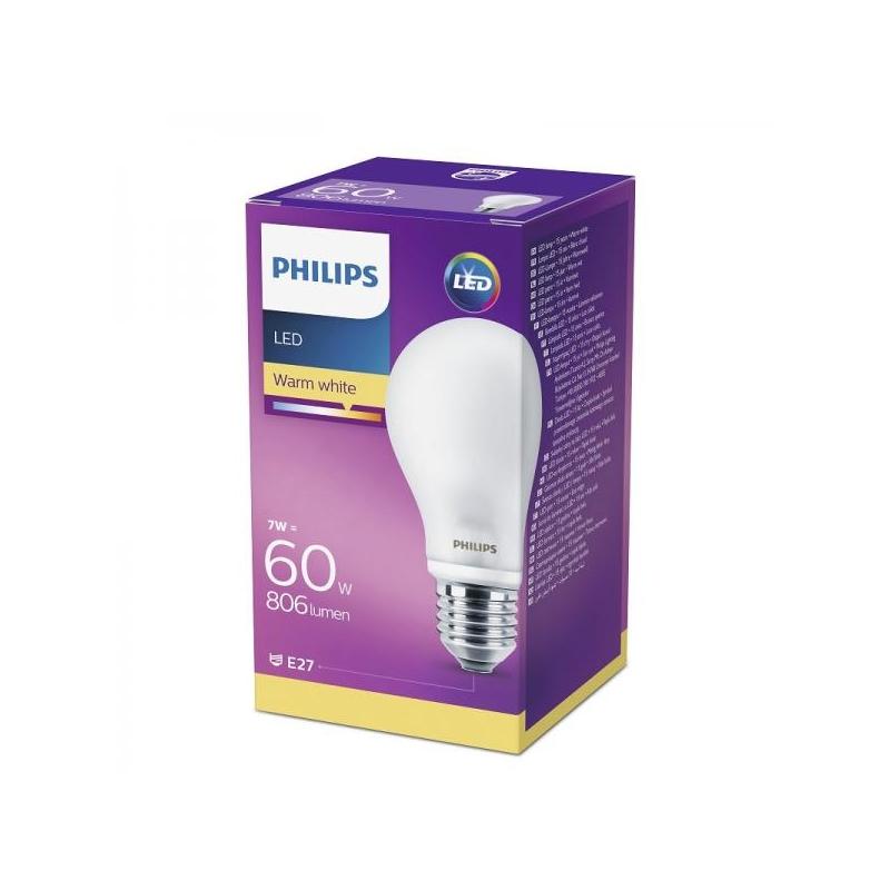 Żarówka LED E27 7W kula ciepła biała