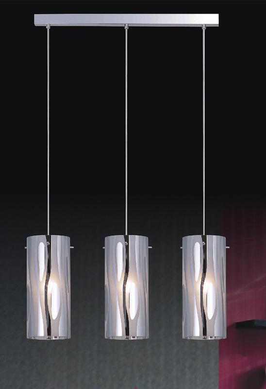 Triplet Italux Lampa Sufitowa Wiszącażyrandol Nowoczesny Chrom